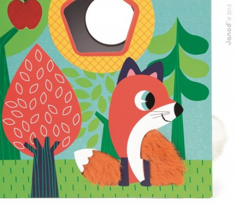 Sensoryczny sorter kształtów Ogród | Janod