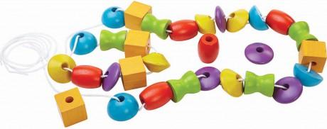 Drewniana nawlekanka z figurami | Plan Toys