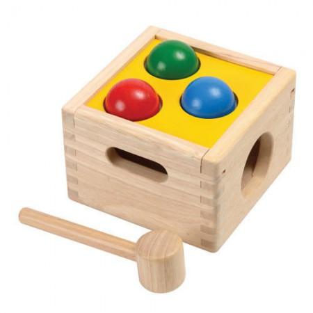 Drewniana skrzynia z kulkami | Plan Toys