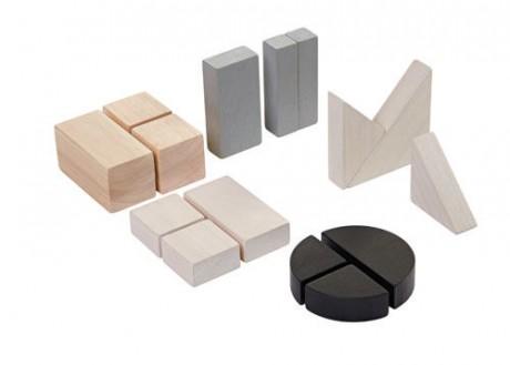 Drewniane klocki do nauki ułamków 15 elementów | Plan Toys