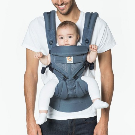 Nosidło | wzór OXFORD BLUE | Ergobaby 360 OMNI Cool air