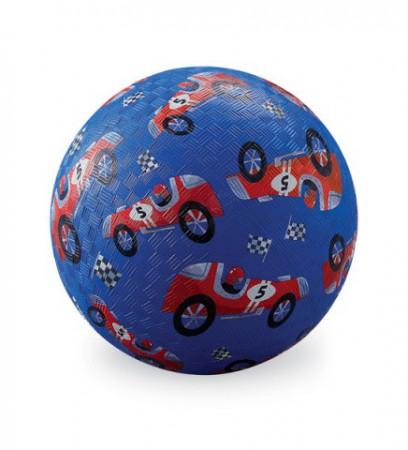 Piłka gumowa perforowana | średnica 13 cm | wzór Wyścig samochodowy | Crocodile Creek