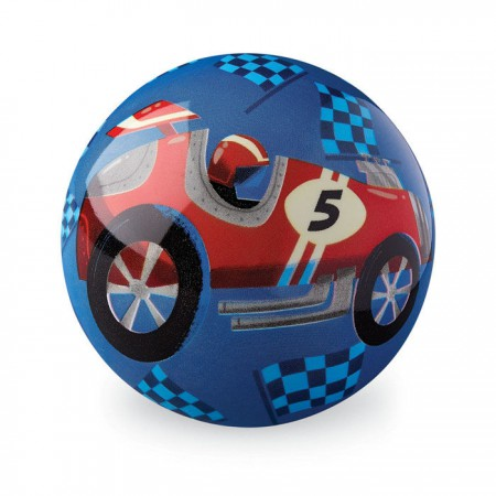 Piłka | średnica 10 cm | wzór Wyścig samochodowy | Crocodile Creek