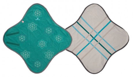 Otulacz- rożek Original 2w1 | polar | kolor JADE | Lodger - rozłożony