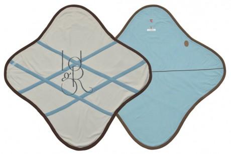 Otulacz- rożek Original 2w1 | polar | kolor SILVERCREEK | Lodger - rozłożony
