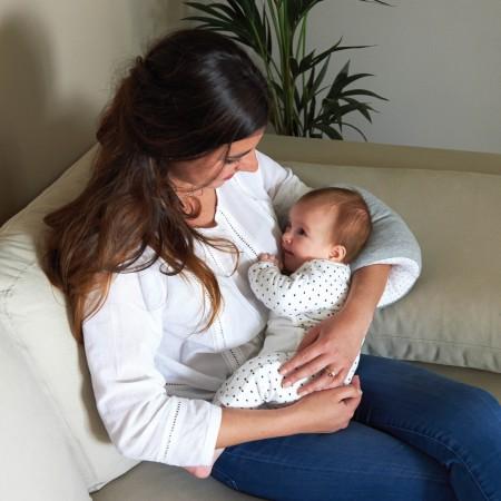 Poduszka - wałek do karmienia niemowląt   wzór szara   Candide