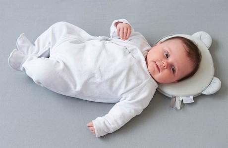 Poduszka dla niemowląt Panda | kolor szary | Candide