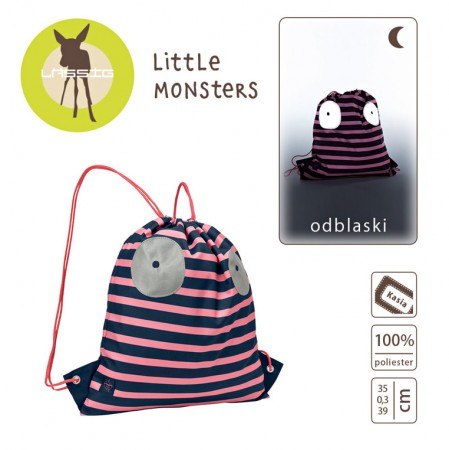 Plecak - worek | kolor Little Monster koral | Lassig