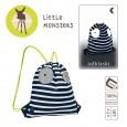 Plecak - worek | kolor Little Monster granat | Lassig