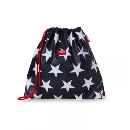 Plecak-worek wodoodporny | kolor granatowy w gwiazdy | Penny Scallan