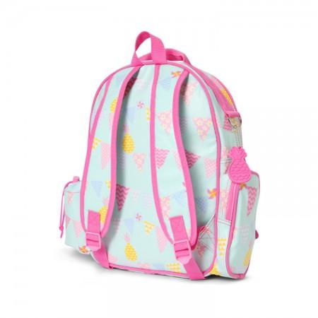 Duży plecak z kieszeniami | różowe ptaszki | Penny Scallan