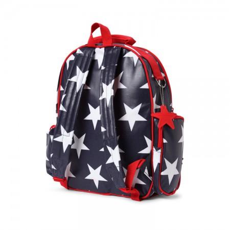 Duży plecak z kieszeniami | granatowy w gwiazdy | Penny Scallan