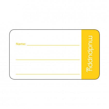 Zawieszka - identyfikator do torby dziecla | wzór Taxi | Mudpuppy