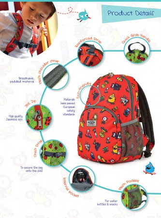 Plecak dla dziecka Totty Tripper M | Hugger - opis