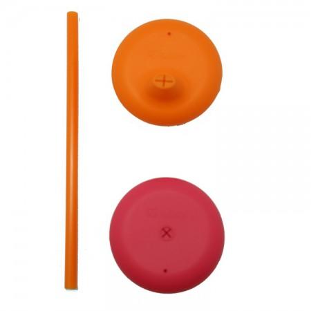 Zestaw silikonowych nakładek na szklankę | kolor strawberry shake | B.BOX