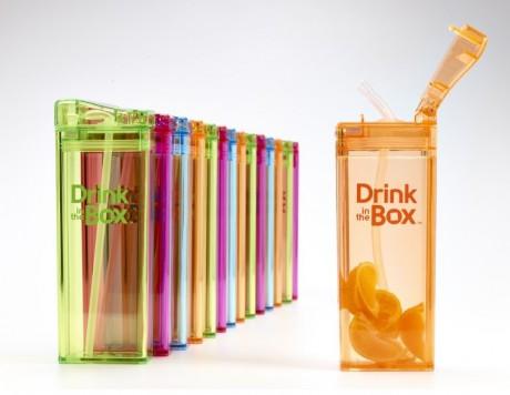 Bidon ze słomką 350ml | DRINK IN THE BOX - różne kolory