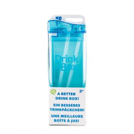 Bidon ze słomką 350ml | niebieski | DRINK IN THE BOX