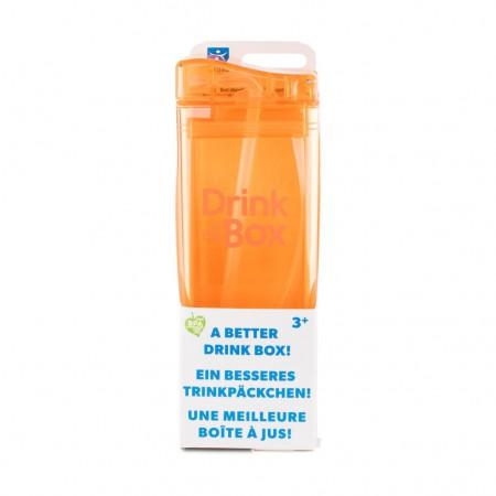 Bidon ze słomką 350ml   pomarańczowy   DRINK IN THE BOX