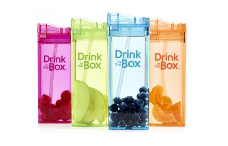 Bidon ze słomką 350ml   DRINK IN THE BOX - różne kolory
