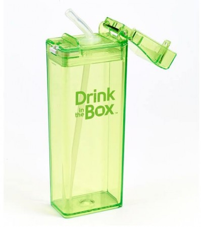 Bidon ze słomką 350ml | green | DRINK IN THE BOX