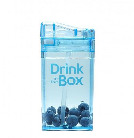 Bidon ze słomką 235ml | niebieski | DRINK IN THE BOX