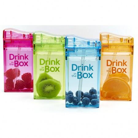 Bidon ze słomką 235ml   DRINK IN THE BOX - różne kolory
