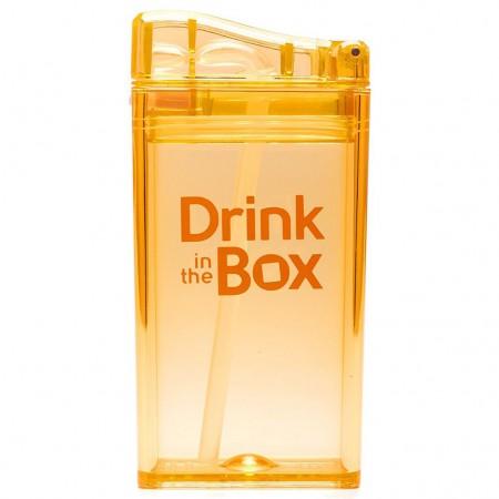 Bidon ze słomką 235ml   pomarańczowy  DRINK IN THE BOX