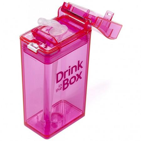 Bidon ze słomką 235ml | pink | DRINK IN THE BOX