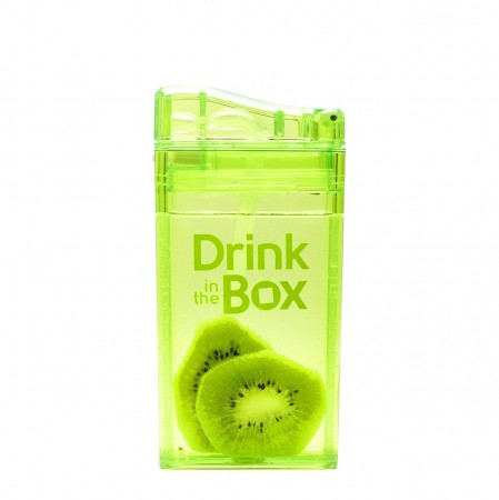 Bidon ze słomką 235ml | zielone | DRINK IN THE BOX