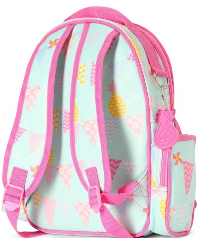 eae6d772fbdc6 Mały plecak z kieszeniami   miętowo-różowy w ananasy   Penny Scallan