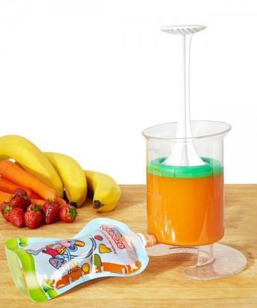 Zestaw do przygotowywania musów | pojemnik + 5 saszetek + szczoteczka | Fill'n Squeeze