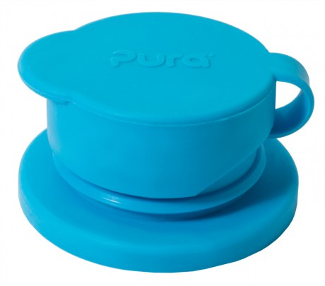 Termobutelka Kiki 260ml | ustnik sportowy | Swirl Edition błękitna  | Pura