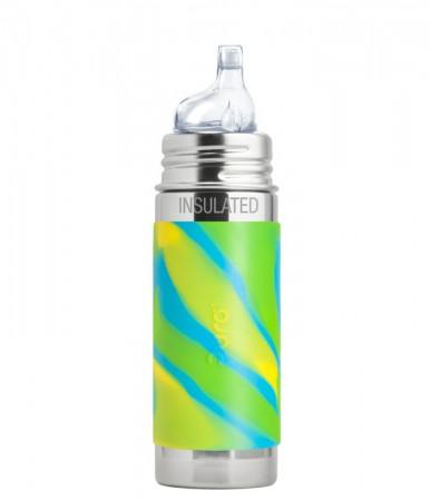 Termobutelka Kiki 260ml | ustnik niekapek | Swirl Edition błękitna | Pura