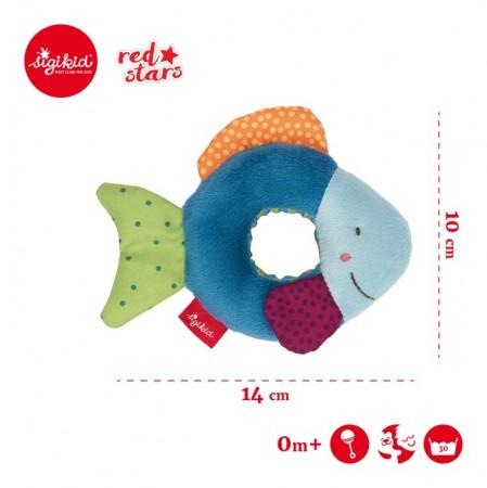 Miękka mini – grzechotka Rybka Red Stars | sigikid