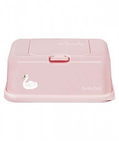 Pojemnik na chusteczki | Pink Swan | Funkybox