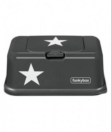 Pojemnik na chusteczki | Dark Grey White Star| Funkybox