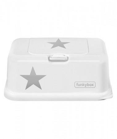 Pojemnik na chusteczki | White Silver Star | Funkybox