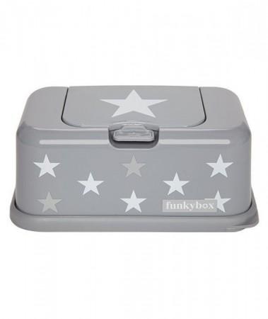Pojemnik na chusteczki | Grey White Star | Funkybox