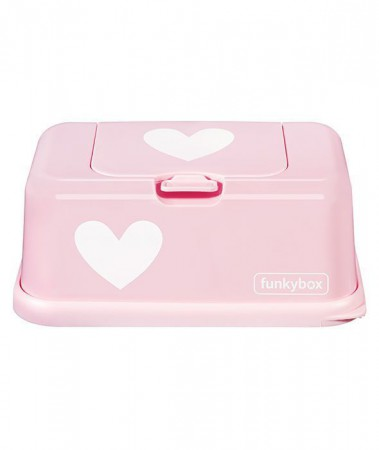 Pojemnik na chusteczki | Pink White Heart | Funkybox