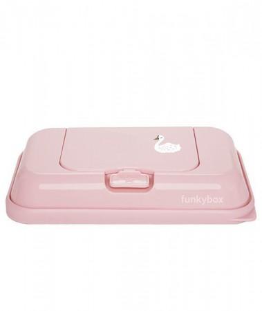 Pojemnik na chusteczki TO GO | Pink Swan | Funkybox