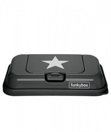 Pojemnik na chusteczki TO GO | Dark Grey White Star | Funkybox