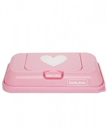 Pojemnik na chusteczki TO GO | Pink White Heart | Funkybox