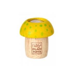 Drewniany kalejdoskop Grzybek żółty | Plan Toys