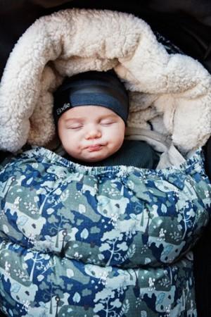 Śpiworek szczelnie otuli dziecko