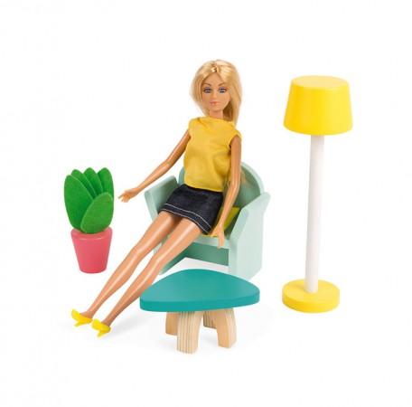Zabawka lalkami w domku rozwija wyobraźnię oraz małą motorykę