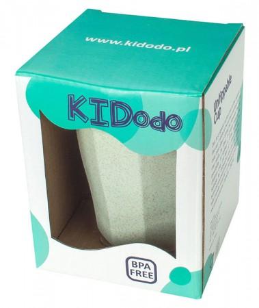 Nieprzewracalny Kubek z Przyssawką z Eko Plastiku | miętowy | KIDodo