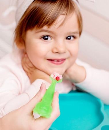 Łyżeczki zmieniające kolor 2 szt. | Zielony Miś | KIDodo