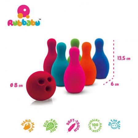 Sensoryczny zestaw do gry w kręgle Rubbabu