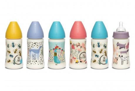 Butelki Suavinex 270 ml kolekcja okrągła - dostępne wzory