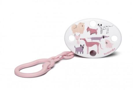 Klips do smoczka Pies różowy | Suavinex